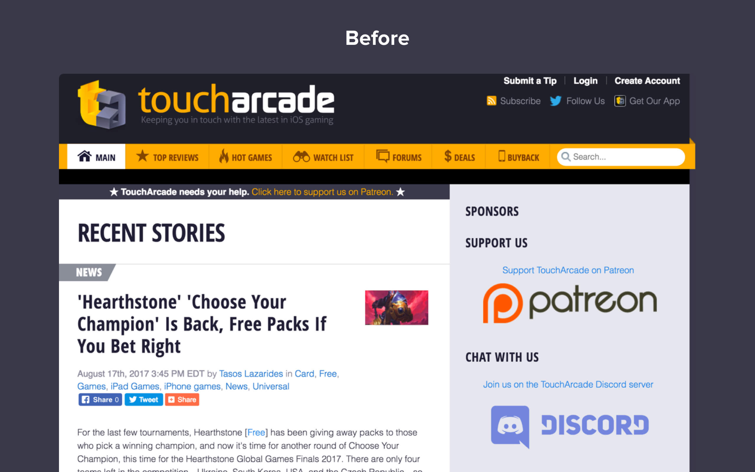 TouchArcade Community | Portfolio