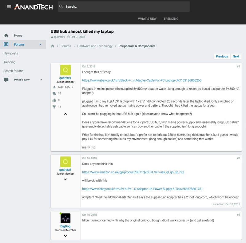 AnandTech Community | Portfolio