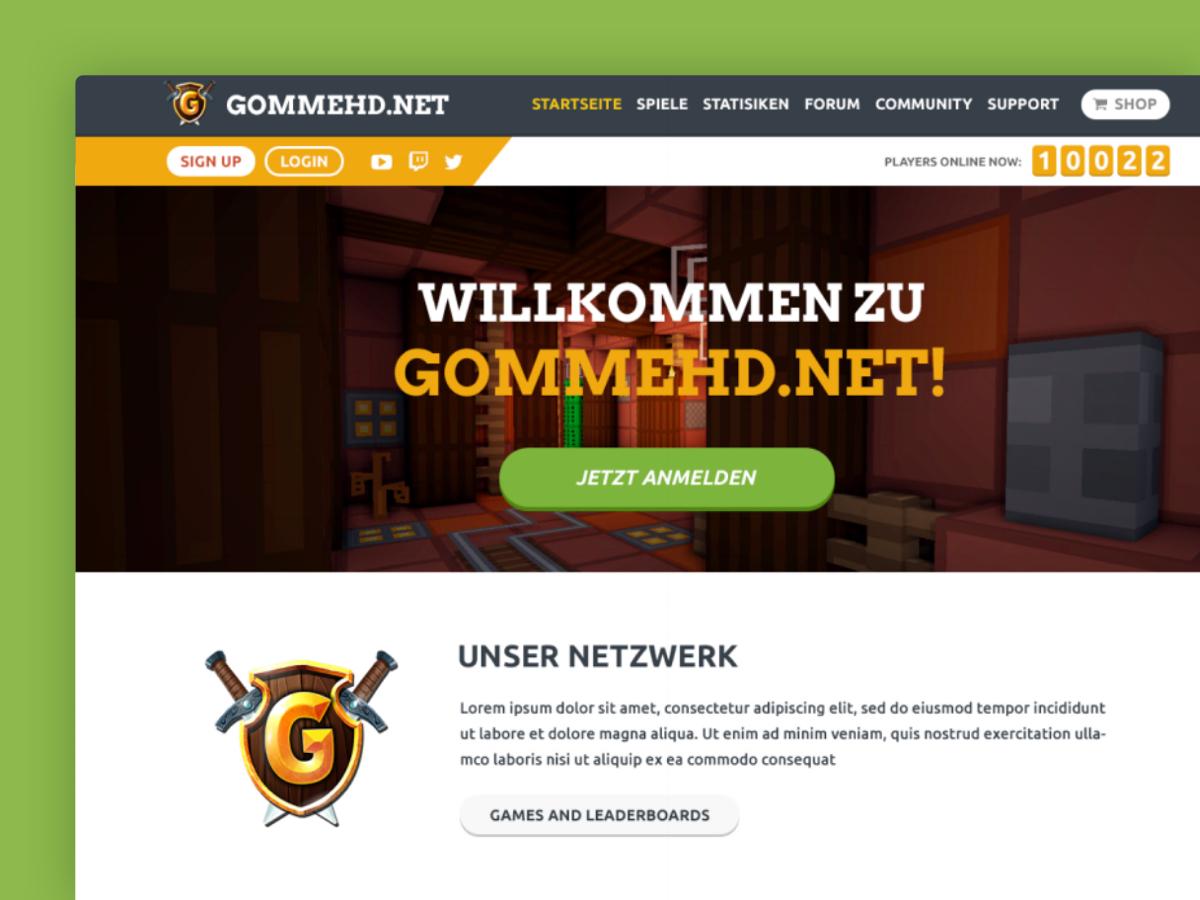 GommeHDnet Community ThemeHouse Portfolio - Minecraft 2d jetzt spielen
